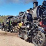 Umgeni Steam Train and Classic Motorcycles ride together